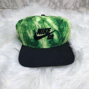 Nike SB Green Tie Dye SnapBack Hat